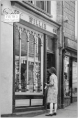 """Frith's Postcards for sale here!"" A Shop in East Gate, Totnes 1928, 80999x."