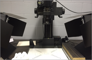 One of the digital scanners used to process the original images.