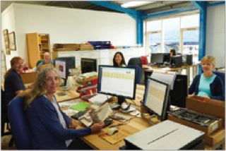 The Frith Digitisation Team in 2015.