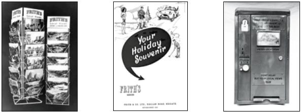 Frith postcard displays c1955