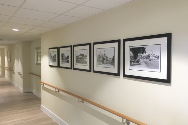 Frith Prints in an office corridor