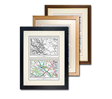 Dual Framed Historical Map Print